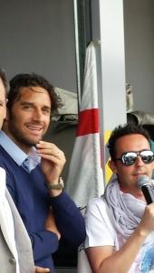 Il calciatore di Serie A Luca Toni con Filippo Verni dj all'Autodromo di Modena.